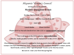 Mother-Daugher Event
